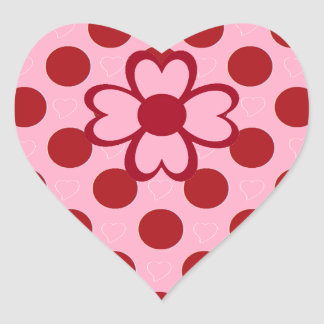 VALENTINES DAY HEARTS AND POLKA DOT STICKER