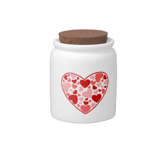 Valentine's Day Hearts Candy Dishes