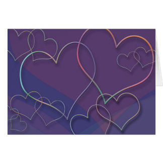 Valentine's Day Hearts Card