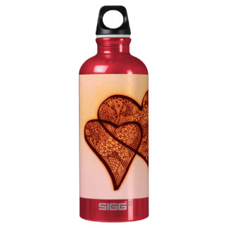 Valentine's Day Hearts entwined Aluminum Water Bottle