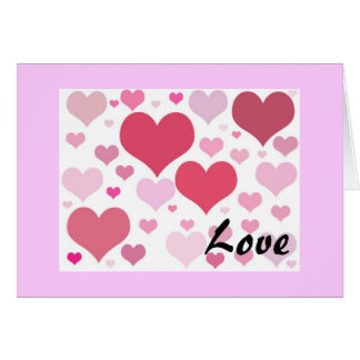 Valentines Day Hearts Greeting Card