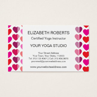 Valentine's Day Hearts in Pink, Red, Purple Business Card