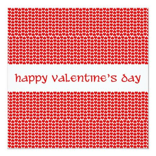 """Valentine's Day Hearts 5.25"""" Square Invitation Card"""