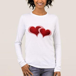 Valentine's Day Hearts Ladies Long Sleeve (Fitted) Long Sleeve T-Shirt