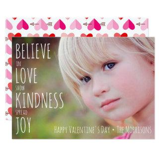 Valentine's Day Hearts Love Kindness Joy Photo Card