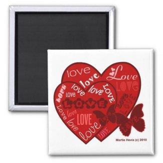 Valentine's Day Hearts & Love Magnet (2) magnet