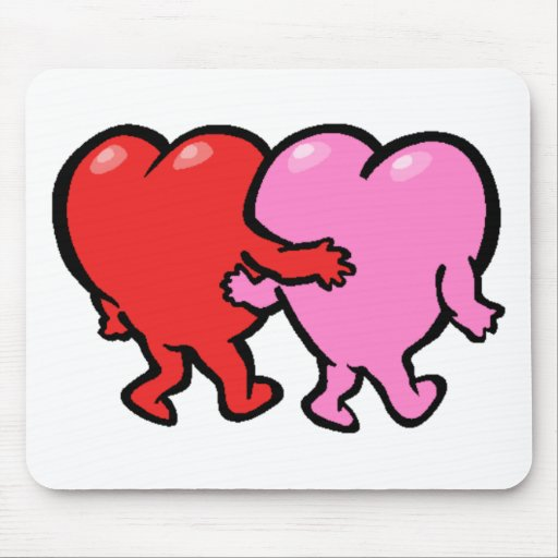 Valentine's Day Hearts Mouse Pad