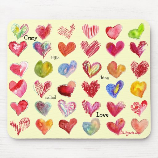 Valentines Day Hearts Mouspad Mouse Pad