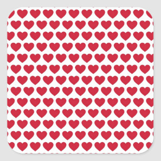 Valentines Day Hearts Pattern Affordable Square Sticker