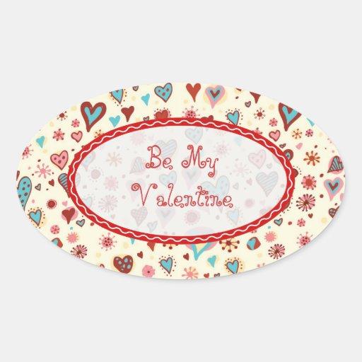 Valentines Day Hearts Pattern-Customizable Text Sticker