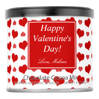 Valentine's Day   Hearts   Personalized Hot Chocolate Drink Mix