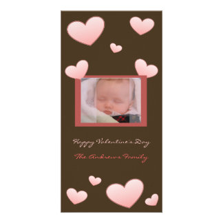 Valentine's Day Hearts Photo Card