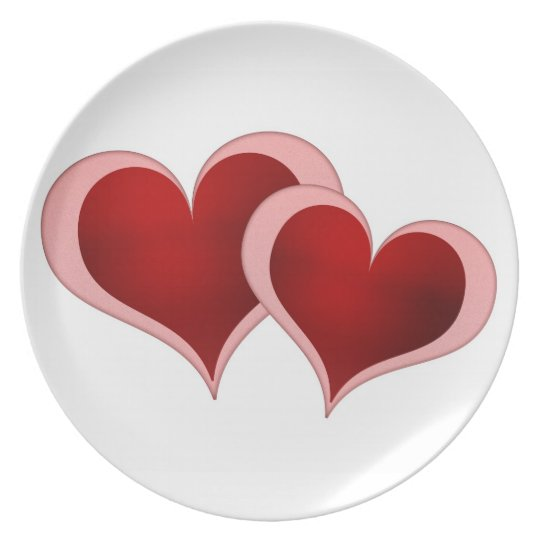 Valentine's Day Hearts Plate