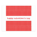 Valentine's Day Hearts Postcard