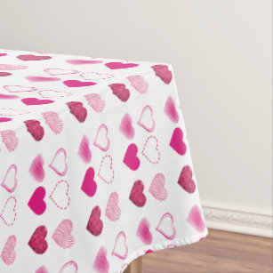 Valentine Hearts Tablecloths Zazzle