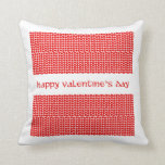 Valentine's Day Hearts Throw Pillow