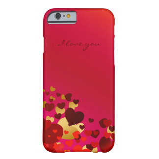 valentines day hearts with declaration of love barely there iPhone 6 case
