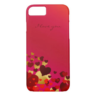 valentines day hearts with declaration of love iPhone 8/7 case