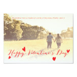 Valentine's Day Holiday Family Photo Card