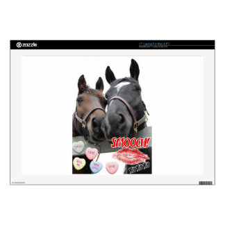 "Valentine's Day Horses 17"" Laptop Skins"