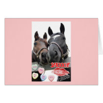 Valentine's Day Horses Card