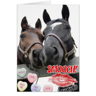 Schön Valentineu0026#39;s Day Horses Card