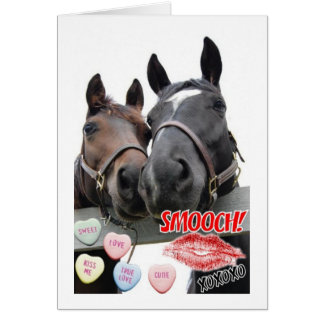 Valentine's Day Horses Cards