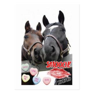 Valentine's Day Horses Postcard