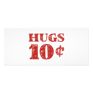 Valentine's Day Hugs 10 Cents Rack Card
