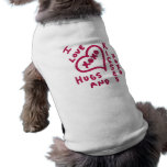 Valentine's Day hugs and kisses Doggie Tee Shirt