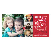 Valentine's Day Hugs and Kisses Love You Card