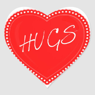 Valentine's Day Hugs Heart Heart Sticker
