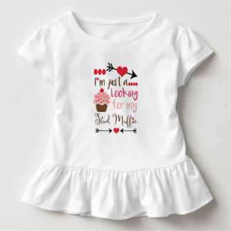 Valentine's Day Humor Cupcake Stud Muffin Toddler T-shirt