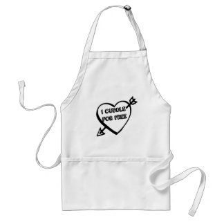 Valentine's Day  - I Cuddle for Free Adult Apron