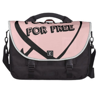 Valentine's Day  - I Cuddle for Free Laptop Bag
