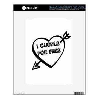 Valentine's Day  - I Cuddle for Free NOOK Decals