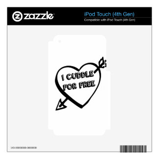 Valentine's Day  - I Cuddle for Free Decal For iPod Touch 4G