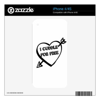 Valentine's Day  - I Cuddle for Free Decals For The iPhone 4S