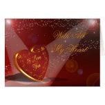 Valentine's Day I love you Heart in spotlight Card