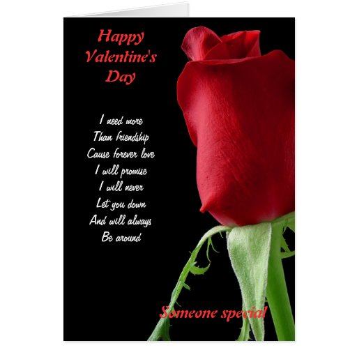 Valentine's day I need more than friendship Greeting Card