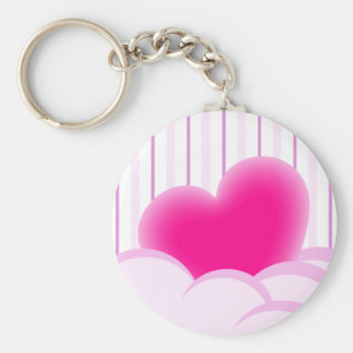 Valentines day illustration with heart and bubbles keychain