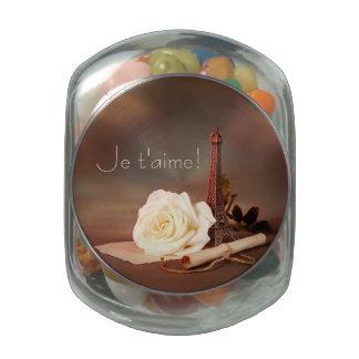 Valentine's Day in Paris Glass Jar