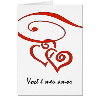 Valentine's Day in Portuguese, Hearts Together Card