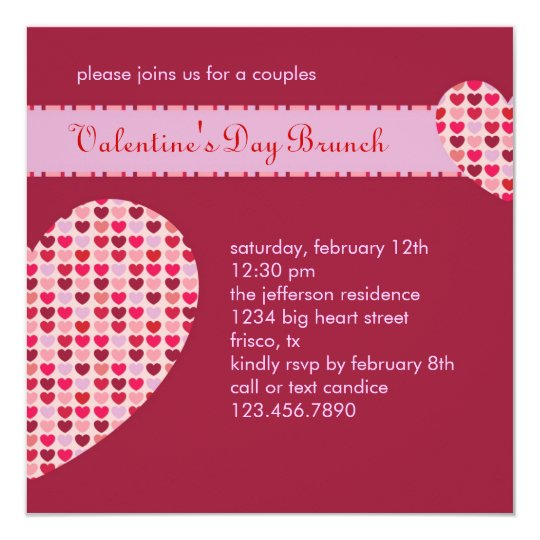 ValentineS Day Invitation  ZazzleCom