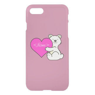 Valentine's Day Kermode Bear with Pink Heart iPhone 8/7 Case