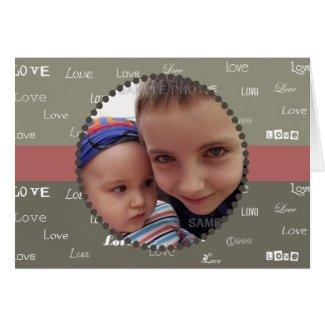 Valentine's Day Khaki & Olive Photo Love Card