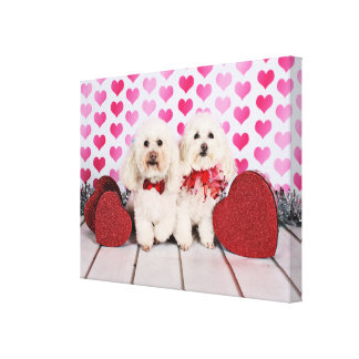 Valentine's Day - Kirby & Shelby - Poodles Canvas Print