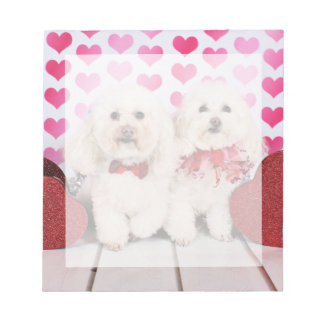 Valentine's Day - Kirby & Shelby - Poodles Notepad