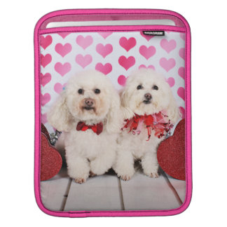 Valentine's Day - Kirby & Shelby - Poodles Sleeve For iPads