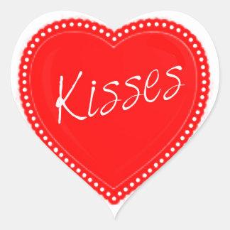 Valentine's Day Kisses Heart Heart Sticker
